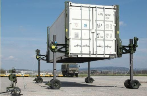 Haacon Container & Shelter Lifting & Transport Sysytem plus Pig Trailer