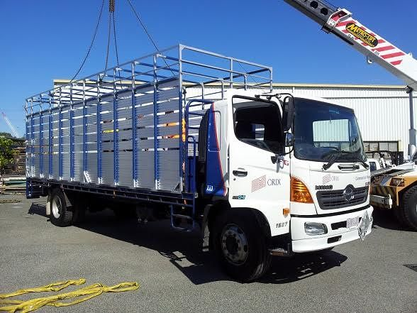 7.6m x 2.4m Stock Crate Trailer for sale QLD Brisbane