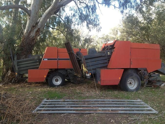 2 x Case 808 Large Square Balers Farm Machinery for sale Vic