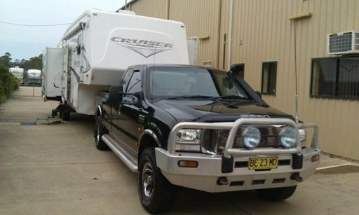 Ford F250 Ute 5th Wheeler Crossroads Cruiser Caravan for sale NSW